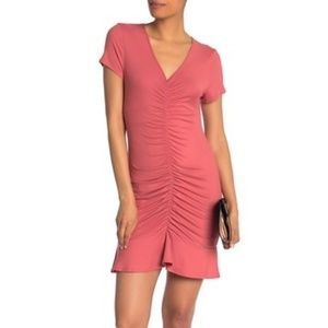 Vanity Room S/S Ruched Jersey Dress Sz Large, NWT
